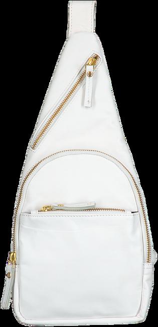EST' LEATHER BAG MIREL WHITE (gold buckle slide)