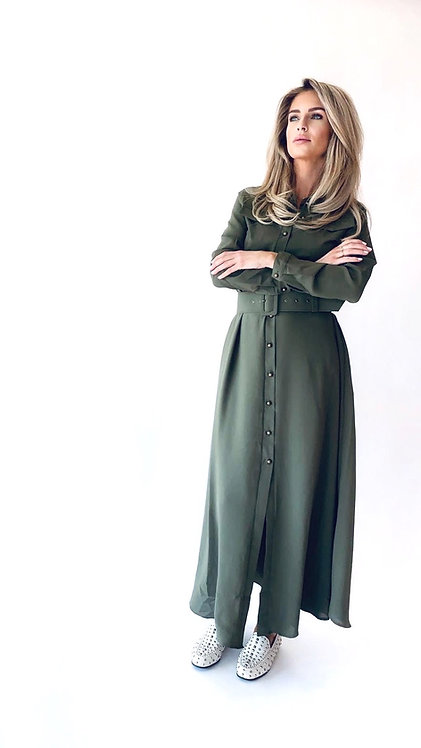 EST'LONG DRESS ARMY GREEN