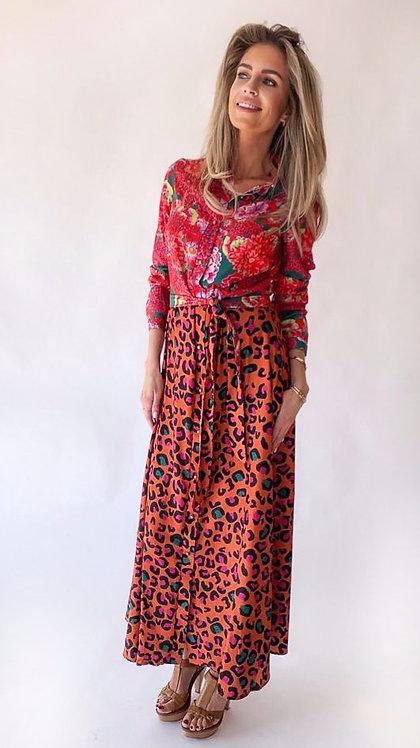EST'ROSE & LEOPARD PINK DRESS