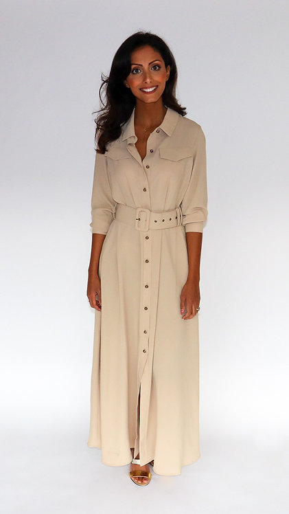 EST'LONG DRESS BEIGE