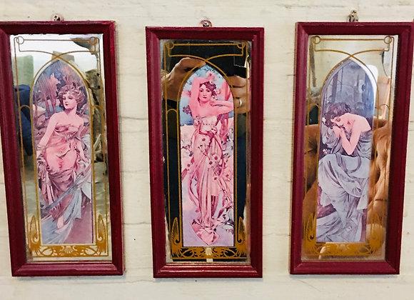 Spiegeltjes Alfons Mucha, Art Nouveau, Jugendstil