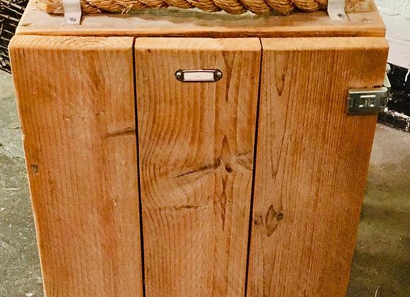 Kastje steigerhout, nachtkastje