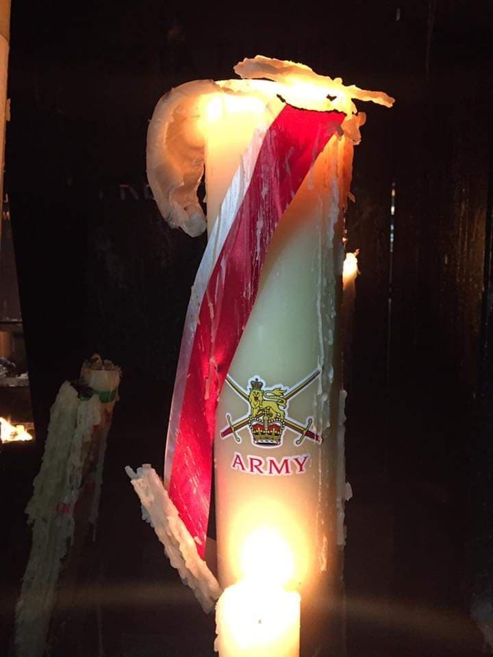British Army candle