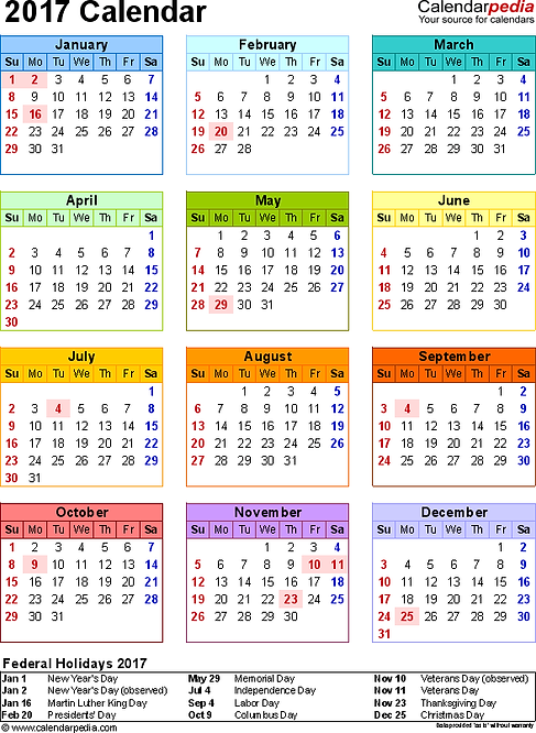 2014 Vacation Rental Calendar