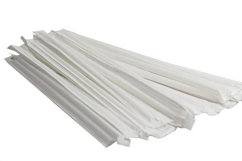 Pajillas con papel