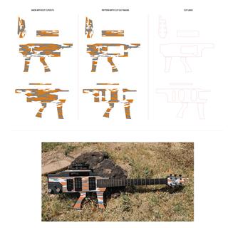 Guitar decal design