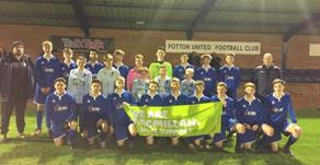 Under 16 league winners raise £400 for Macmillan Cancer Support