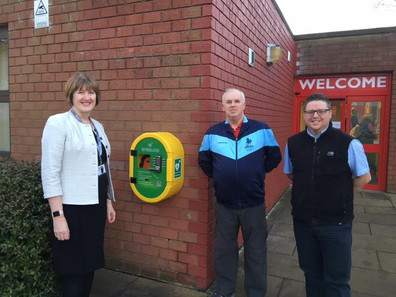 PCFC Defibrillator at Potton Middle