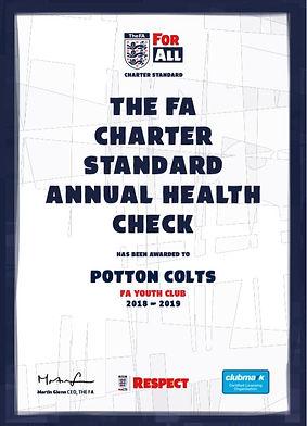Potton Colts FC is an FA Charter Standard Club