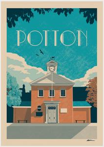 Order Potton Vintage Town poster