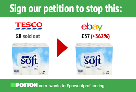 Sign our petition to stop people profiteering from stripping supermarket shelves
