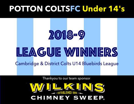 Potton Colts FC 2018-19 Under 14's