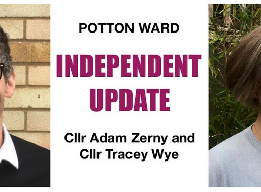October Independent Councillor update