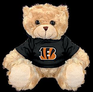 """Cincinnati Bengals 9"""" Hoodie Rally Bear"""