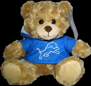 "Detroit Lions 9"" Hoodie Rally Bear"