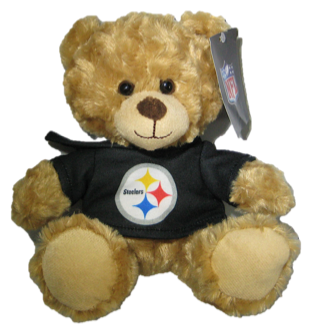"Pittsburgh Steelers 9"" Hoodie Rally Bear"