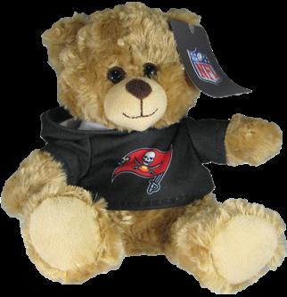 """Tampa Bay Buccaneers 9"""" Hoodie Rally Bear"""