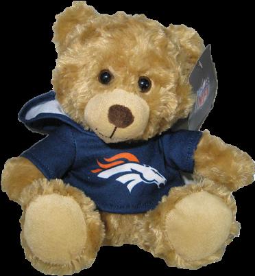 "Denver Broncos 9"" Hoodie Rally Bear"