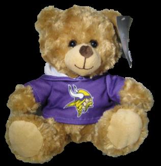 "Minnesota Vikings 9"" Hoodie Rally Bear"