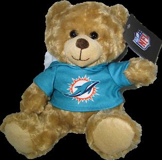 """Miami Dolphins 9"""" Rally Bear"""