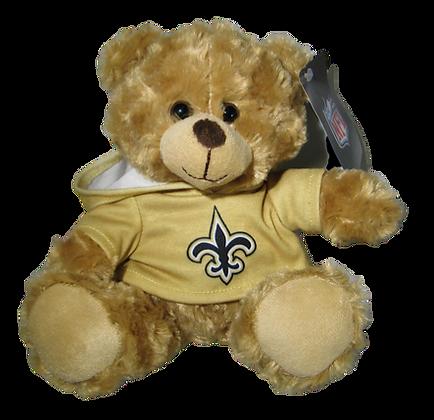"""New Orleans Saints 9"""" Hoodie Rally Bear"""