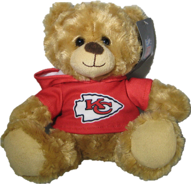 "Kansas City Chiefs 9"" Hoodie Rally Bear"