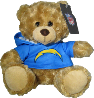 """Los Angeles Chargers 9"""" Rally Bear"""