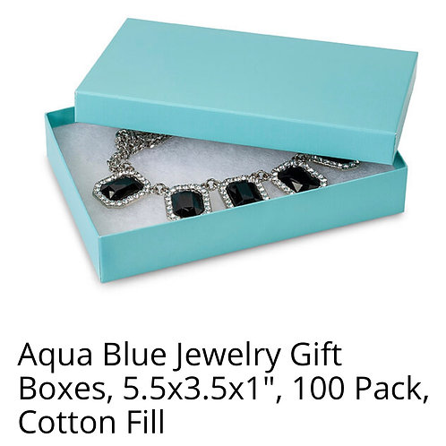 Aqua Blue Box Packaging
