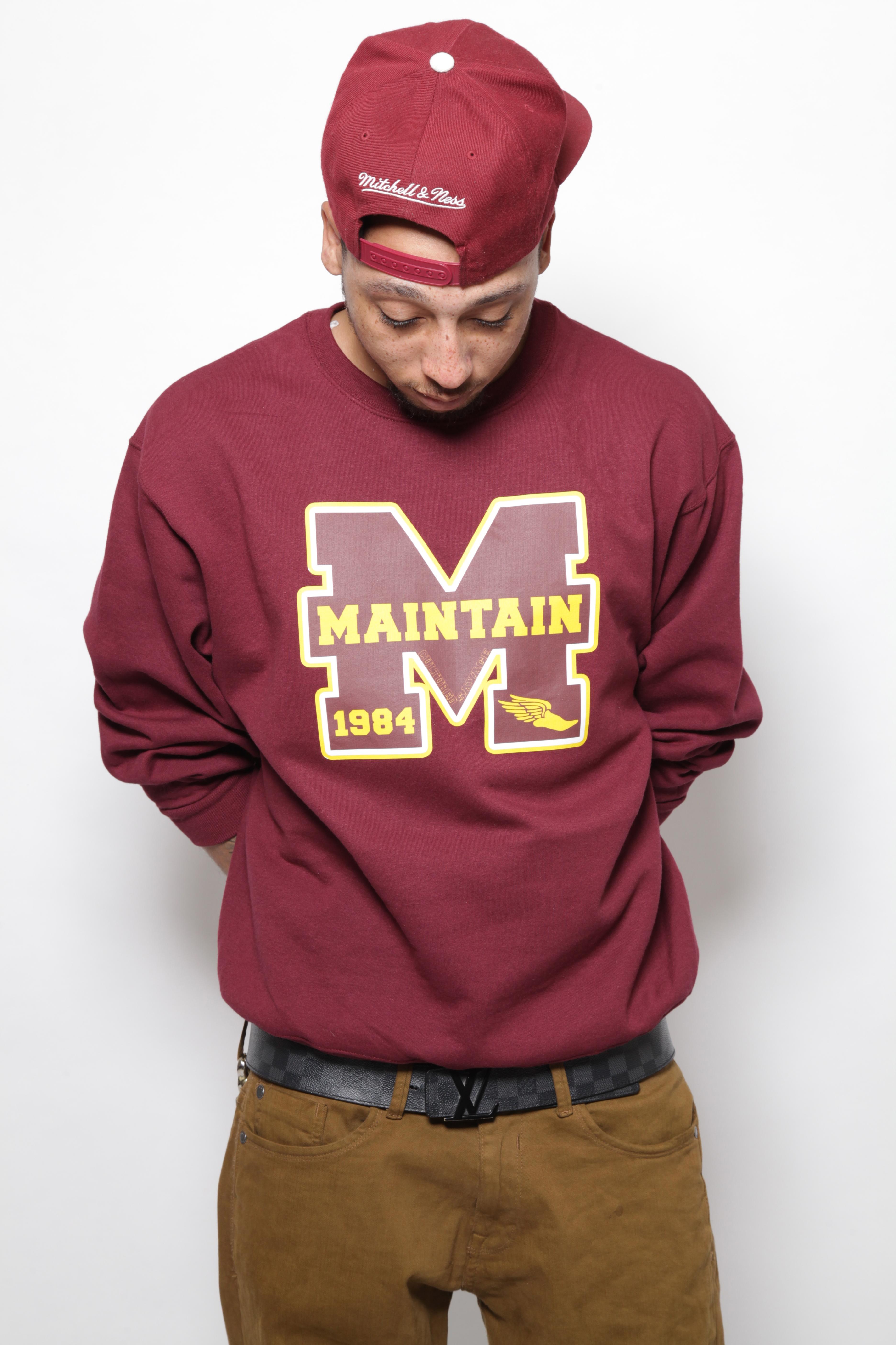 """""""Varsity Maintain"""" Sweatshirt"""