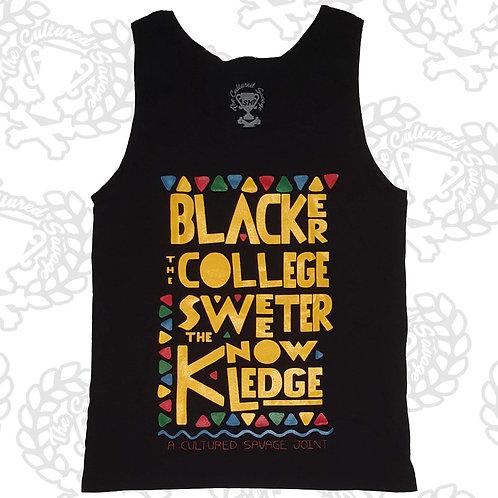 """Blacker the College 3.0""  Tank"