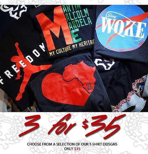 3 for $35 T-Shirts (set of 3)
