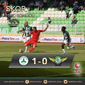Giresunspor 1-0 Akhisarspor