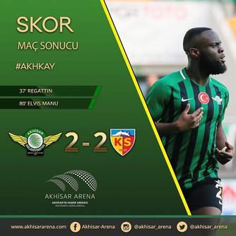 Akhisarspor 2-2 Kayserispor