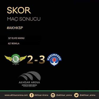 Akhisarspor 2-3 Kasımpaşa