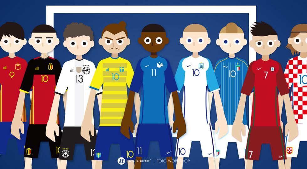 UEFA Euro Go Goal Your Team Character