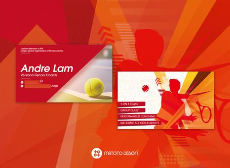 個人網球教練名片設計 -  Andre Lam