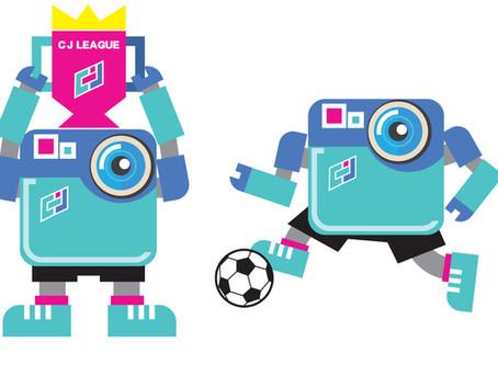 足球比賽平台CJ League 吉祥物設計