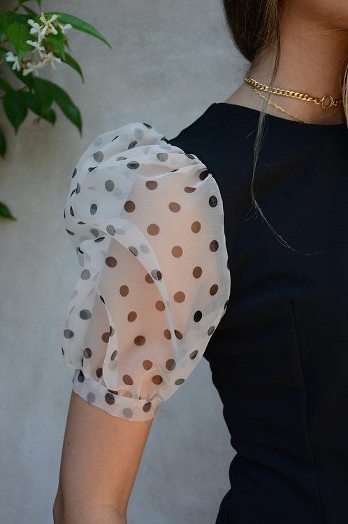 Rina Scimento, Italy  Organza Sleeve Top
