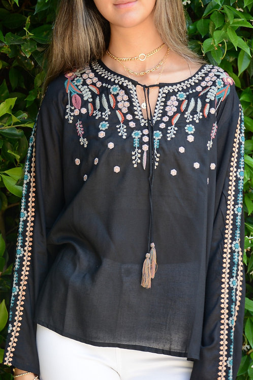 Trois K 100% Cotton Embroidered Tunic