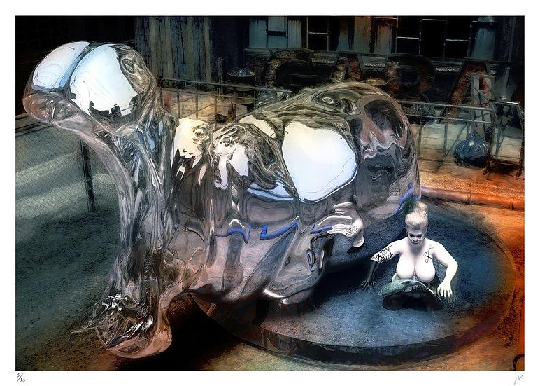 Lionel Morateur - Speculum animalibus - Hippopotamus