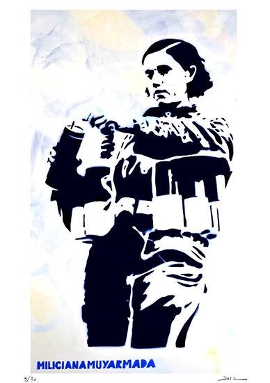 Jean-Michel Zazzi - Carmen - Milicianamuyarmada - Milicienne - 1936