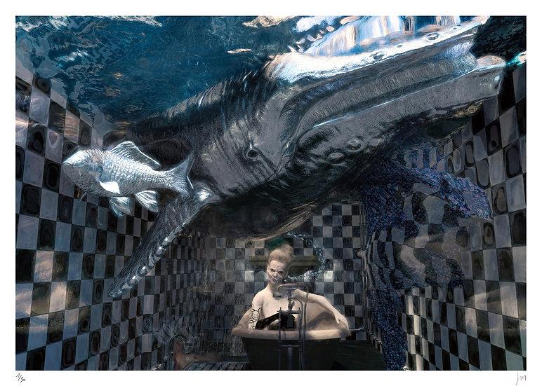 Lionel Morateur - Speculum animalibus - Suzanne au bain