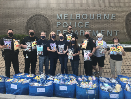 Pillow Buddies Ride along with Melbourne Police Department  March 29, 2021