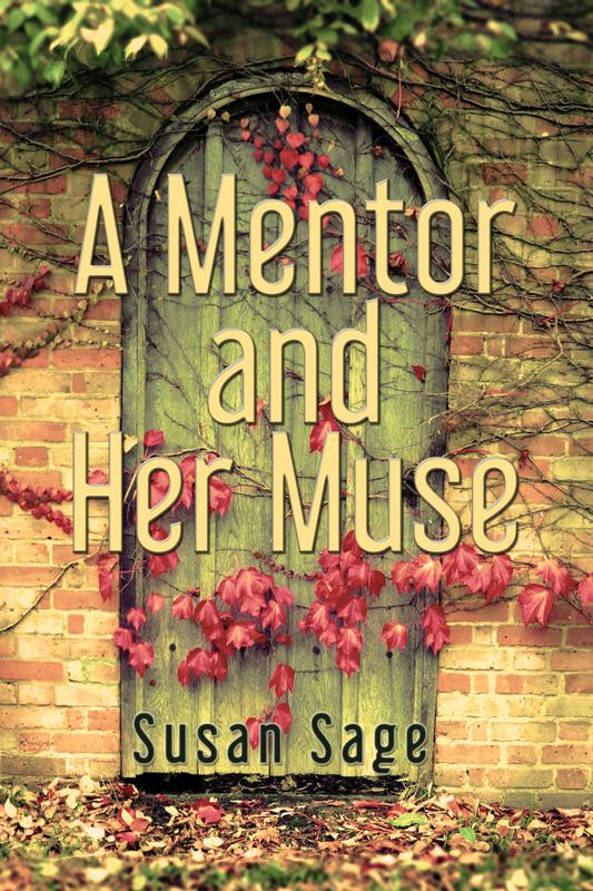 An olive green arched door with red autumn coloured flowers and leaves Susan Sage review giascribes