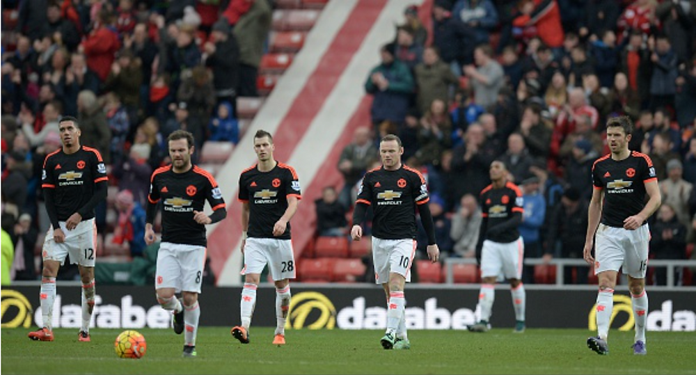 Manchester United Players against Sunderland