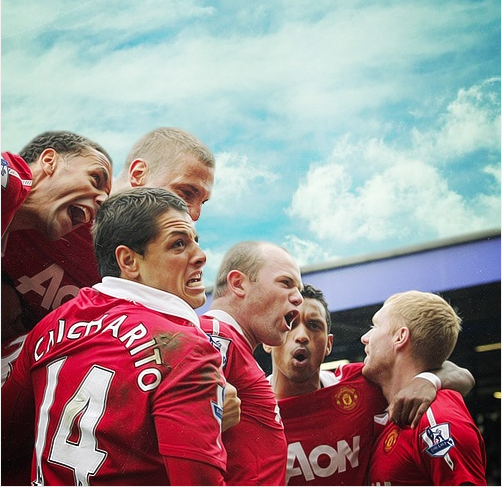 Manchester United Champs Gather