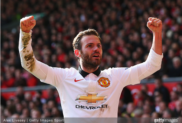 Juan Mata scored twice to give Manchester United the 2-1 victory of Liverpool at Anfield.
