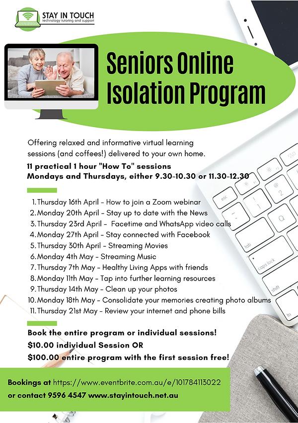 Seniors Digital Online Isolation Program