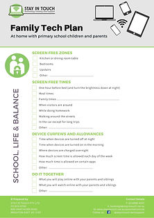 Family Tech Plan - Primary School Childr