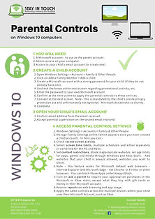 Parental controls - Windows 10 - by Stay